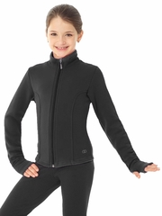 Mondor Black Polartec Jacket w/ Rhinestones Design At Back