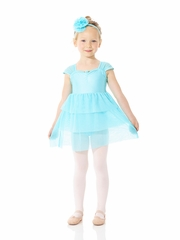 Mondor Blue Taffy Triple Layered Ballerina Dress