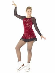 Mondor Fantasy On Ice Grenat Charleston Dress