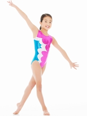 Mondor Fuchsia Tank Leotard w/ Combination of Metallic Fabrics