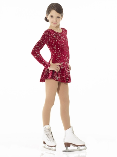 Mondor Grenat Print Born To Skate Glitter Dress