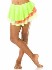 Mondor Hot Lime Pull-On Classic Skirt w/ Double Mesh