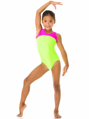 Mondor Hot Lime Tank Leotard w/ Combination of Neon Colors
