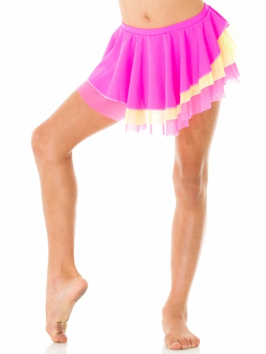 Mondor Hot Pink Pull-On Classic Skirt w/ Double Mesh