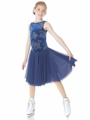 Mondor Midnight Blue Long Dance Skirt