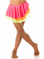 Mondor Neon Fuchsia Pull-On Classic Skirt w/ Double Mesh