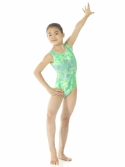 Mondor Plain Metallic Green Light Leotard