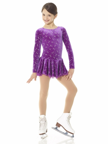 Mondor Purple Dragonfly Laced Back Born To Skate Dress