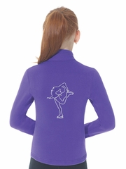 Mondor Purple Polartec Jacket w/ Rhinestones Design At Back