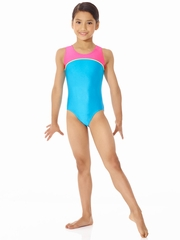 Mondor Turquoise Tank Leotard w/ Combination of Neon Colors