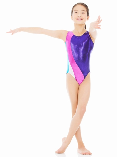 Mondor Violet  Bright & Shiny Leotard