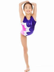 Mondor Violet Tank Leotard w/ Combination of Metallic Fabrics