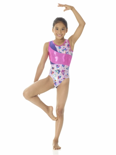 Mondor Wide Insert Heartbeat Leotard
