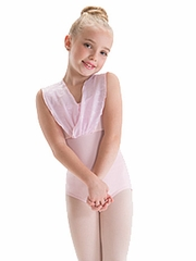 Motionwear Annabelle Pink V-Shoulder Drape Leotard