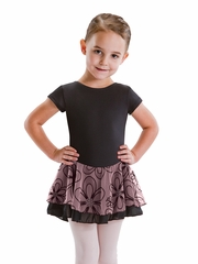 Motionwear Cap Sleeve Doubled Skirted Leotard