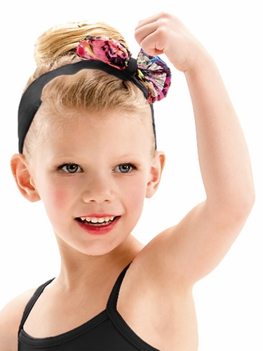 Motionwear Lucky Animal Print Black Bow Headband
