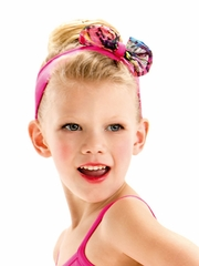 Motionwear Lucky Animal Print Hot Pink Bow Headband