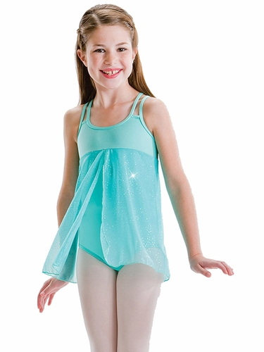 Motionwear Mint Mesh 4 Strap Open Front Cami Dress