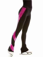 Motionwear Shine On Fuchsia Berry Skate Flat Waist Swirl Pant