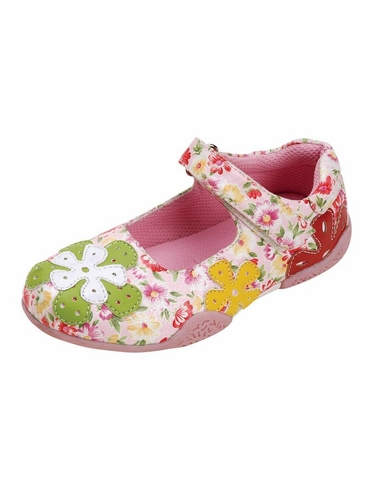 Multi-Color Floral Embroidered Shoes