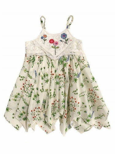 Multicolor Mimi & Maggie Botanical Gardens Babies Green House Plants Dress