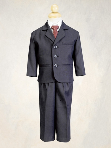 Navy Blue Boys Pin-Suit - 5 Piece Suit