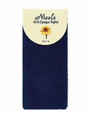 Navy Girls Nylon Opaque Tights