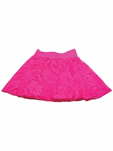 Neon Pink Lace Skirt