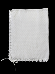 Baby�s Trousseau White Christening Ribbon Shawl