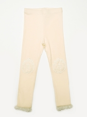Mae Li Rose Ivory Knee Patch Leggings