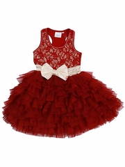 Ooh! La La! Couture Red Lace WOW Dress