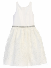 Off-White Feather Patch Mesh Dress