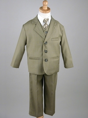 Boys' Olive 5 Piece Suit