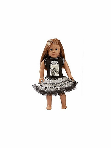 "Ooh! La La! Couture Black Perfume Birthday 18"" Doll Dress"