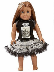 Ooh! La La! Couture Black Perfume Birthday 18� Doll Dress