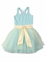 Ooh! La La! Couture Blue Ice Tie Bow Dress