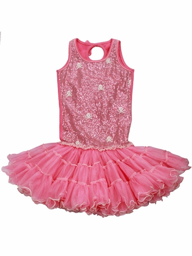 Ooh! La La! Couture Candy Pink Skulls Wiretrim Poufier Dress