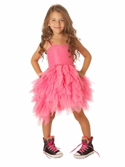 Ooh! La La! Couture Candy Pink Swarovski Devin High Low Dress