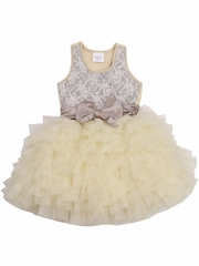 Ooh! La La! Couture Champagne Lace WOW Dress