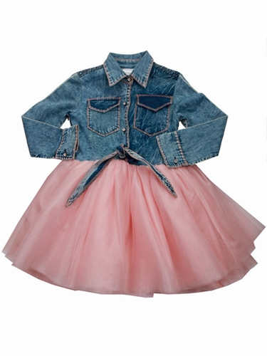 Ooh! La La! Couture Denim Button Up Shirt Dress