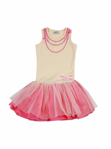 Ooh! La La! Couture Ivory & Candy Pink Necklace Dress