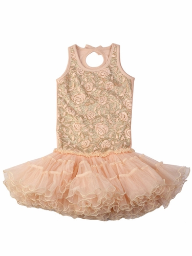 Ooh! La La! Couture Pink Champagne Wiretrim Poufier Dress