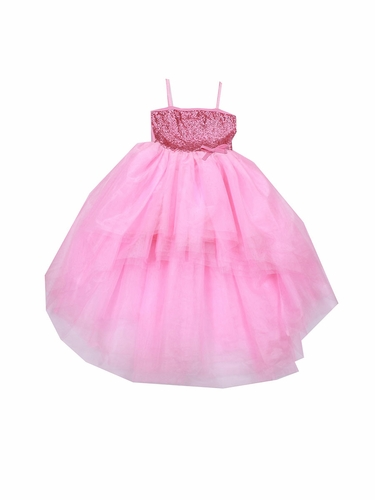 Ooh! La La! Couture Pink Lady Sequin Kylee High Low Dress