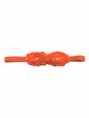 Orange Mini Peonies Elastic Headband