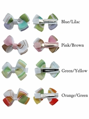 Pair of Multicolor Hair Bow Clips