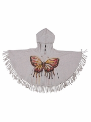 Paper Wings Butterfly Fringed Poncho