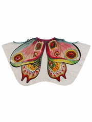 Paper Wings Butterfly Wings Curved Poncho Tee