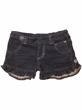 Paper Wings Charcoal Frilled Corduroy Shorts