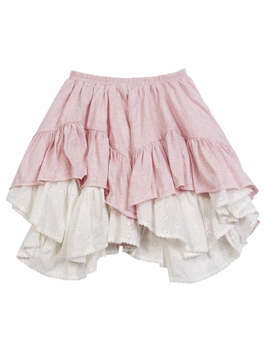 Paper Wings Pink Frilled Skirt