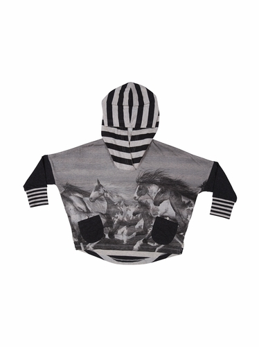 Paper Wings Stampede Oversize Hooded Tee